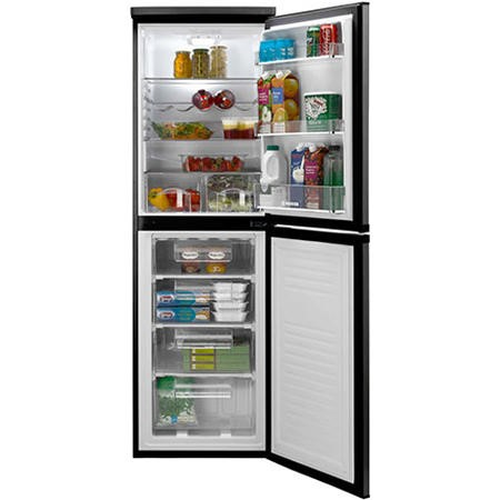 Hoover HCF5172BK 1.77m x 55cm - Frost Free Freestanding Fridge Freezer - Black