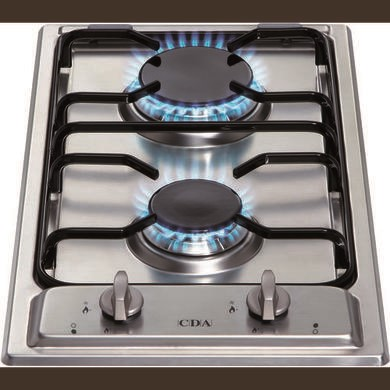 CDA HCG301SS Domino Two Burner Gas Hob Stainless Steel