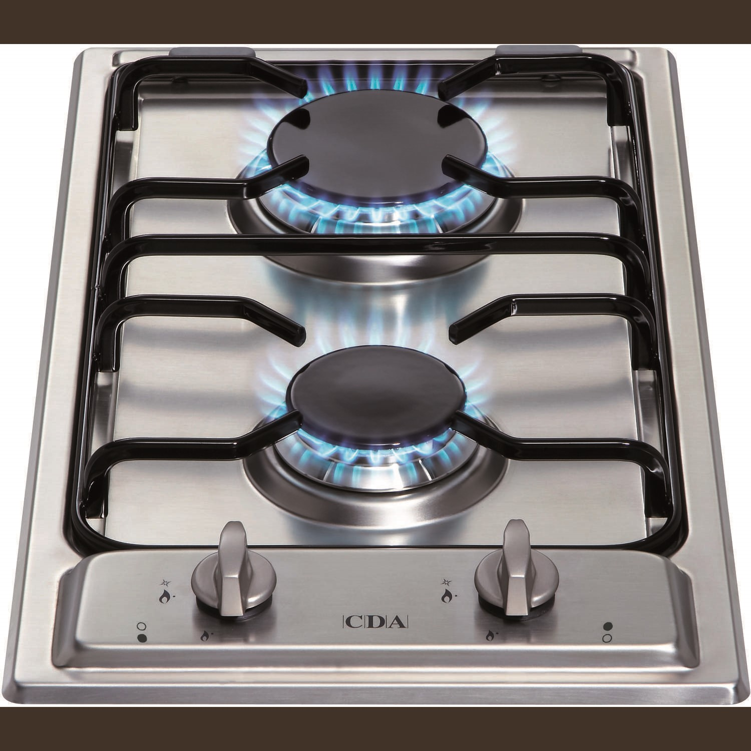 Cda Hcg301ss 29cm Domino Two Burner Gas Hob Stainless