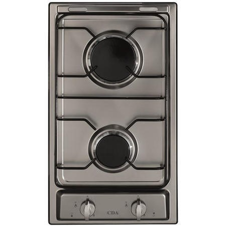 CDA HCG301SS 29cm Domino Two Burner Gas Hob Stainless Steel