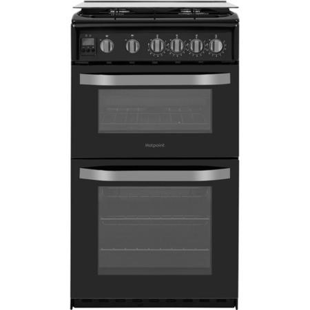 Hotpoint HD5G00CCBK 50cm Double Cavity Gas Cooker - Black