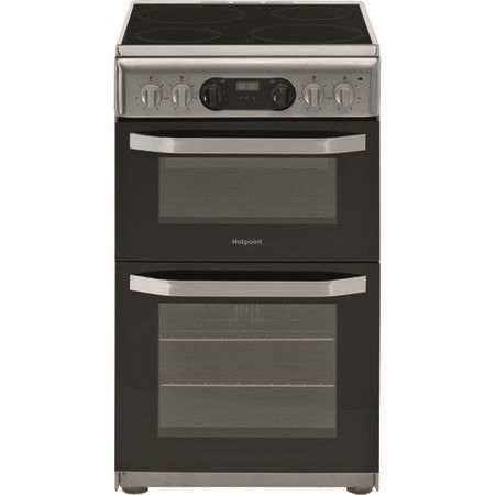 Hotpoint HD5V93CCSS 50cm Double Oven Electric Cooker With Ceramic Hob - Grey