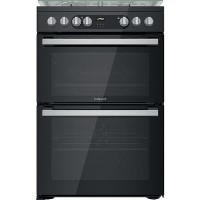 Hotpoint HDM67G9C2CSB 60cm Double Oven Dual Fuel Cooker - Black