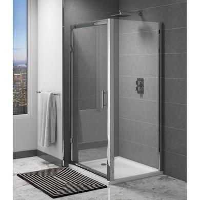 Claritas 6mm Glass Hinged Shower Door - 900 x 1850mm