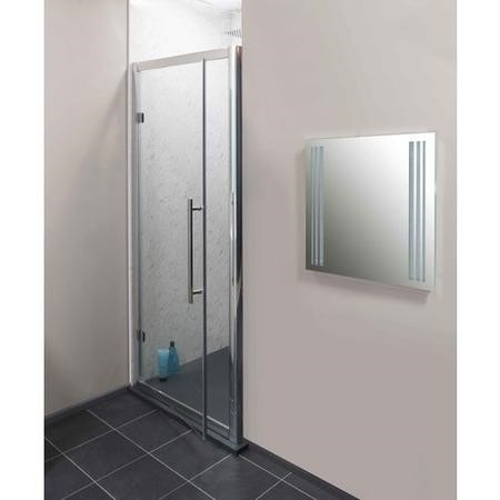 Claritas 6mm Glass Hinged Shower Door - 800 x 1850mm