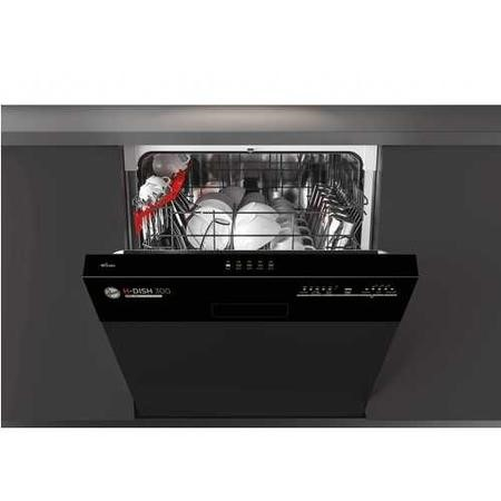 Hoover HDSN1L380PB-80 13 Place Semi-integrated Dishwasher - Black Control Panel