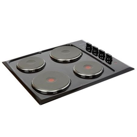 NordMende HE62BL 60cm Solid Plate Electric Hob Black