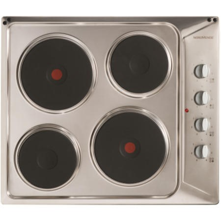 NordMende HE62IX 60cm Solid Plate Electric Hob Stainless Steel