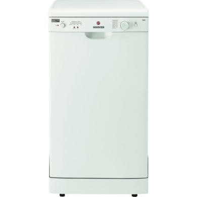 HEDS1064-80 Hoover HEDS1064-80 9 Place Slimline Freestanding Dishwasher in White