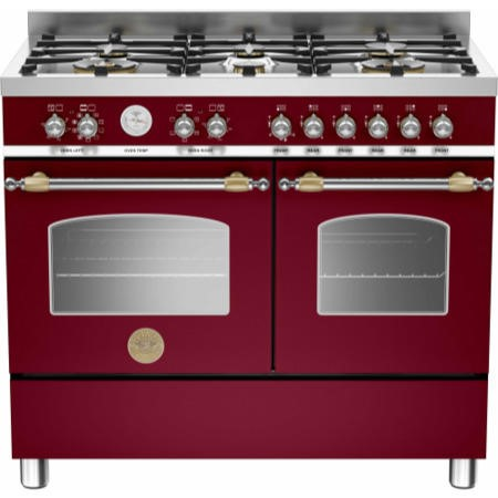 Bertazzoni HER100-6-MFE-D-VIT Heritage 100cm Dual Fuel Range Cooker With 6 Burners And 2 Ovens Matt