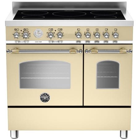 Bertazzoni HER905IMFEDCRT 100cm Bertazzoni Heritage Electric Range Cooker With 5 Zone Induction Hob