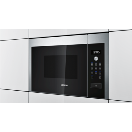 Siemens HF15M564B iQ500 800W 20L Built-in Microwave Oven For A 60cm Wide Wall Unit - Stainless Steel