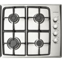 NordMende HG603IX Stainless Steel 60cm Gas Hob with Stainless Steel Knobs - Side Control