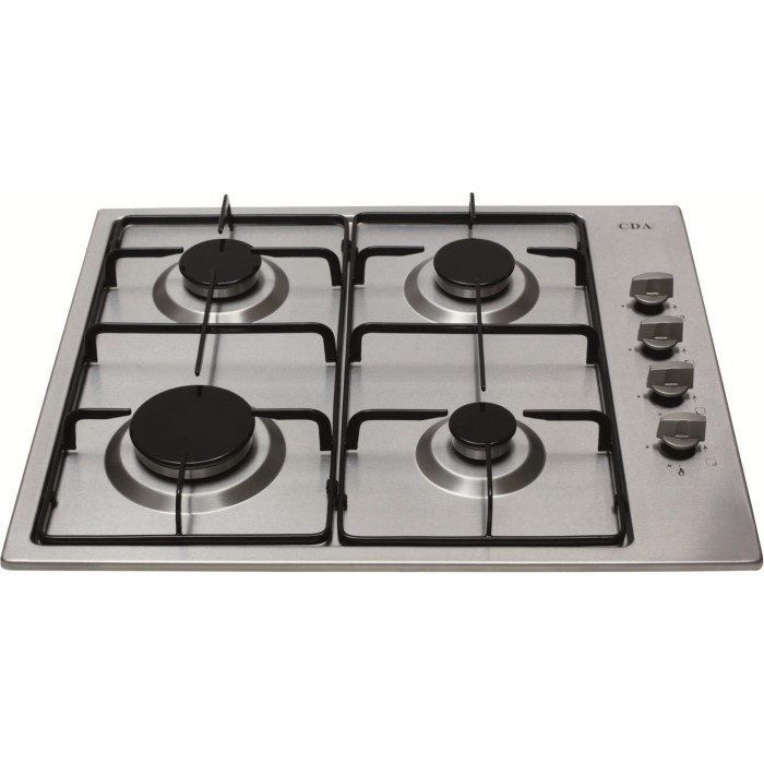 60d542dd35b131 CDA HG6150SS 60cm Four Burner Gas Hob Stainless Steel | Appliances ...
