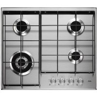 AEG HG644351SM 60cm Four Burner Gas Hob Stainless Steel