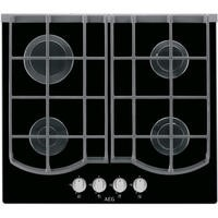 AEG HG653431NB 60cm Four Burner Gas-on-glass Hob Black Glass