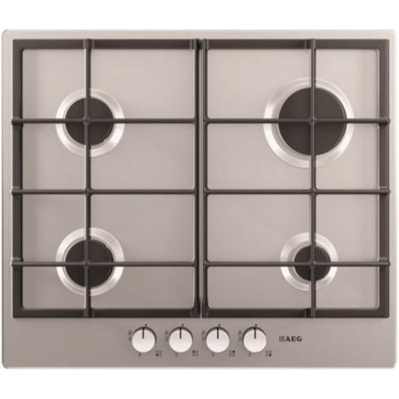 AEG HG654320NM 60cm Four Burner Gas Hob - Stainless Steel
