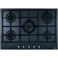 CDA HG7250BL 68cm Five Burner Gas Hob With Cast Iron Pan Supports