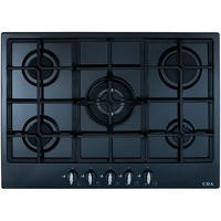 CDA HG7250BL 68cm Five Burner LPG Gas Hob With Cast Iron Pan Supports