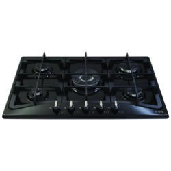 CDA HG7320BL 68cm Five Burner Gas Hob With Cast Iron Pan Stands Black