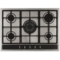 CDA HG7350SS 70cm Five Burner Gas Hob Stainless Steel Best Price, Cheapest Prices