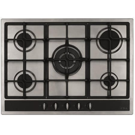 CDA HG7350SS 70cm Five Burner Gas Hob Stainless Steel