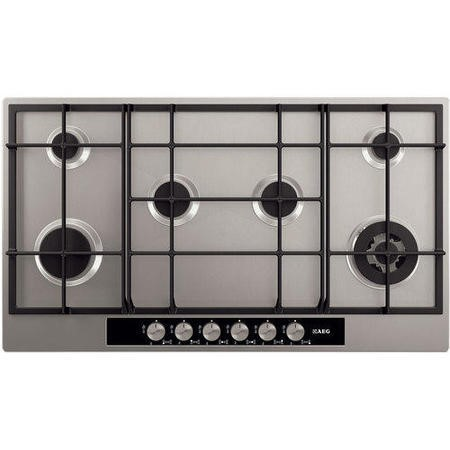 AEG HG956440SM Extra Wide 90cm Six Burner Gas Hob Stainless Steel