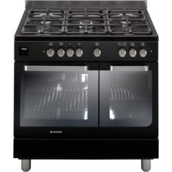 Hoover HGD9395BL 90cm Twin cavity dual fuel range cooker MF/Conv ovens 5 gas burners A/A Energy. DATE TBA