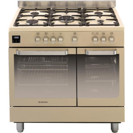Hoover HGD9395IV Twin Cavity 90cm Dual Fuel Range Cooker Ivory