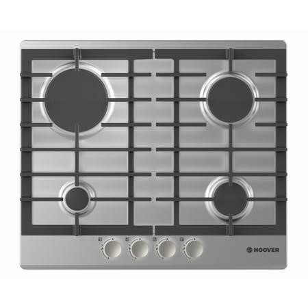 Hoover HGH64SCEX 59cm Four Burner Gas Hob Stainless Steel