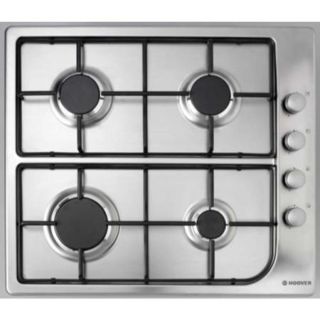Hoover HGL64SX 59cm Four Burner Gas Hob - Stainless Steel