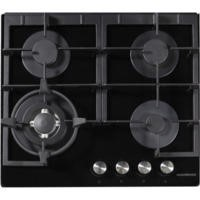 NordMende HGX603BGL Black 60cm Four Burner Gas-on-Glass Hob  - Front Control