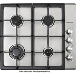NordMende HGX603IX Stainless Steel 60cm Gas Hob with SS Knobs Side Control X Design