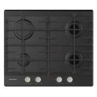 Hoover HHG6BRSB 60cm Four Burner Gas Hob With Cast Iron Pan Stands - Black