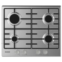 Hoover HHW6BRMX 60cm Four Burner Gas Hob With Enamelled Pan Stands - Stainless Steel