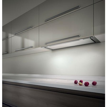 Elica HIDDEN-120 Hidden 1198mm Canopy Cooker Hood Stainless Steel And White Glass