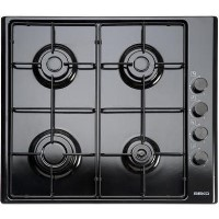 Beko HIZG64120SB 60cm Wide 4 Burner Gas Hob Black