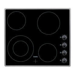 AEG HK614010MB Four Zone 60cm Ceramic Hob with Stainless Steel Frame