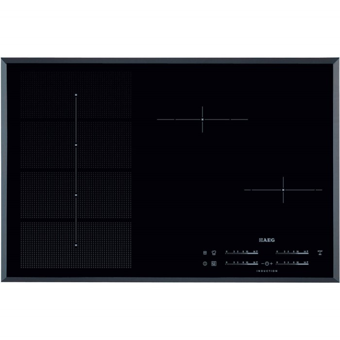 aeg hk856600fb maxisense 4 zone induction hob with. Black Bedroom Furniture Sets. Home Design Ideas