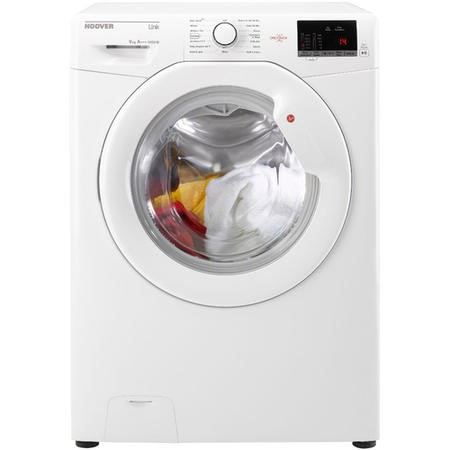Hoover HL1492D3 Link With One Touch 9kg 1400 Spin Freestanding Washing Machine - White With White Door