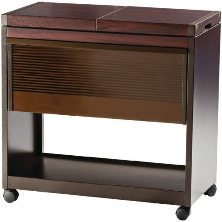 Hostess HL6200DB Connoisseur - Metal and Wood Effect Trolley - Dark Brown