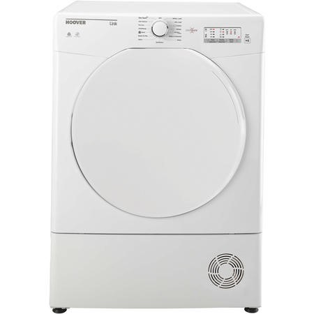Hoover HLC8LF Link With One Touch 8kg Freestanding Sensor Condenser Tumble Dryer - White With Plastic Door
