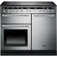 Rangemaster 104690 Hi Lite 100cm Electric Range Cooker With Induction Hob SS And Chrome