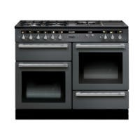 Rangemaster 102640 Hi Lite 110cm Wide Dual Fuel Range Cooker Slate And Chrome