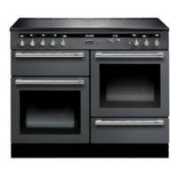 Rangemaster 104510 110cm Electric Range Cooker With Induction Hob Slate And Chrome