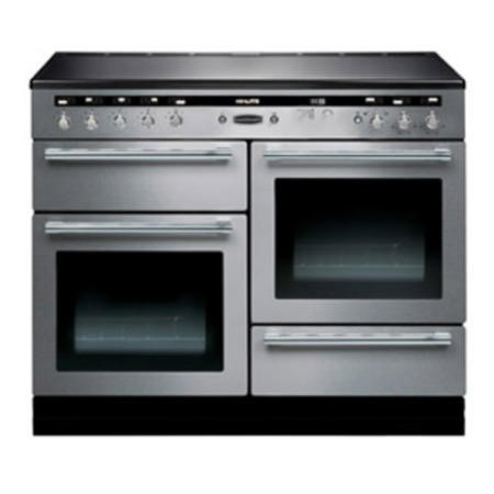 Rangemaster 104520 110cm Electric Range Cooker With Induction Hob Stainless Steel And Chrome