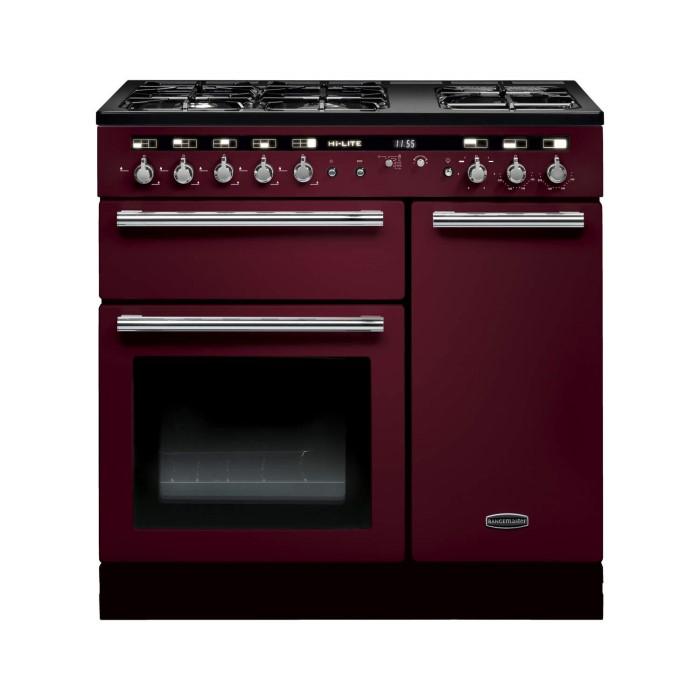 Rangemaster 102570 hi lite 90cm wide dual fuel range - Piano de cuisine electrique ...