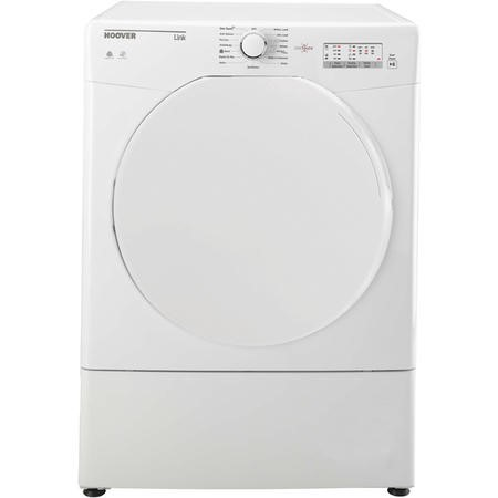 Hoover HLV8LF Link With One Touch 8kg Freestanding Sensor VentedTumble Dryer - White With Plastic Door