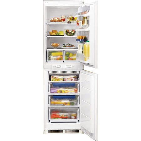 HOTPOINT HM325FF 228 Litre Integrated Fridge Freezer 50/50 Split 174cm Tall Frost Free 55cm Wide - White