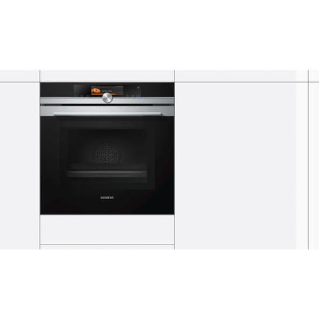 Siemens HM656GNS6B iQ700 Built-in Single Oven With Microwave - Black And Stainless Steel
